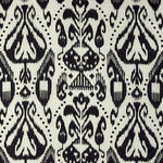 Schumacher Kiva Embroidered Ikat Raven Fabric