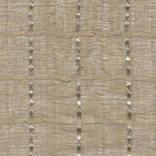 Kasmir Checkerboard Natural Fabric - Fabric