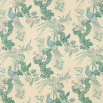 Schumacher Peacock Cream Fabric