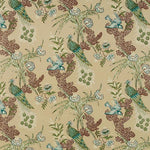 Schumacher Peacock Beige Fabric