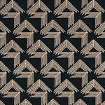 Schumacher V Step Black Fabric