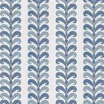 Vervain Ikat Leaves Azure Fabric