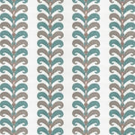 Vervain Ikat Leaves Seaglass Fabric