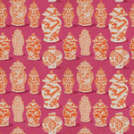 Stroheim Canton Pink Orange Fabric