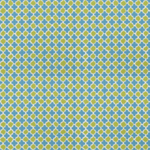 Stroheim Lester Lanin Turquoise Lime Fabric - Fabric