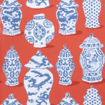 Stroheim Canton Persimmon Blue Wallpaper