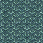 Groundworks Chengtudoor Emb Blue/Aqua Fabric