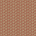 Groundworks Chengtudoor Emb Beige/Red Fabric