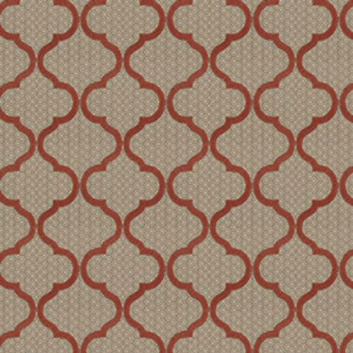 Fabricut Magnetic Ogee Cinnamon Fabric Decoratorsbest