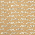 Schumacher Leaping Leopards Sand Fabric