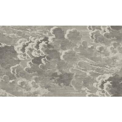 Cole & Son Nuvolette Gilver & Charcoal Wallpaper - Wallpaper