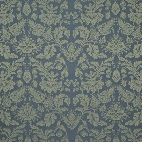 Ralph Lauren Ryders Cove Damask Lapis Fabric - Fabric