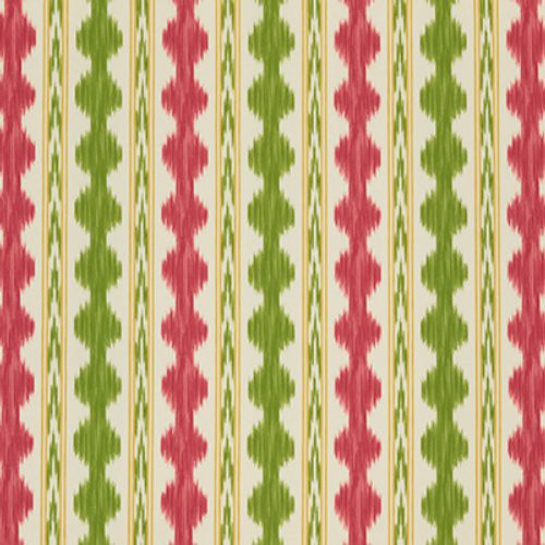 Brunschwig & Fils Avera Print Red/Green Fabric - Fabric