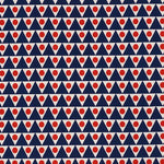 Schumacher Pennant Ii Navy & Red Fabric