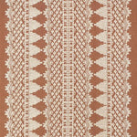 Schumacher Wentworth Embroidery Rust Fabric