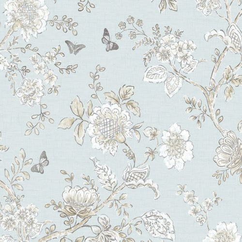 Norwall Butterfly Toile Fh37537 Wallpaper - Wallpaper