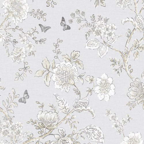 Norwall Butterfly Toile Fh37538 Wallpaper - Wallpaper