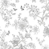 Norwall Butterfly Toile Fh37540 Wallpaper