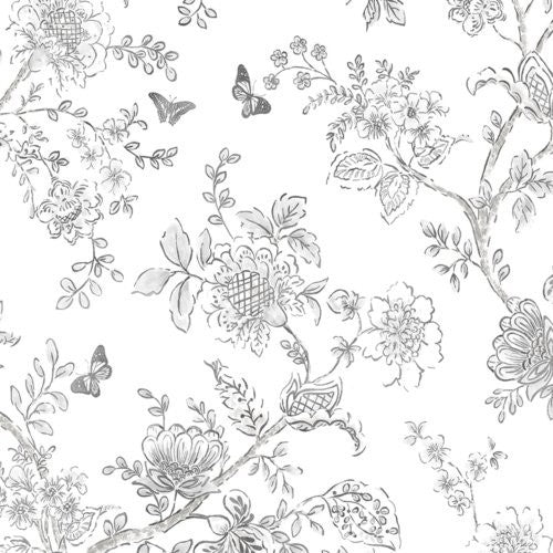 Norwall Butterfly Toile Fh37540 Wallpaper - Wallpaper
