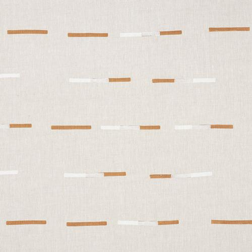 Schumacher Overlapping Dashes Brown & White Fabric - Fabric