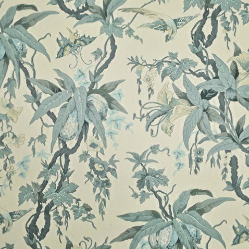 Ralph Lauren Mary Day Botanical Slate Wallpaper - Wallpaper