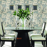 Ralph Lauren Mary Day Botanical Slate Wallpaper