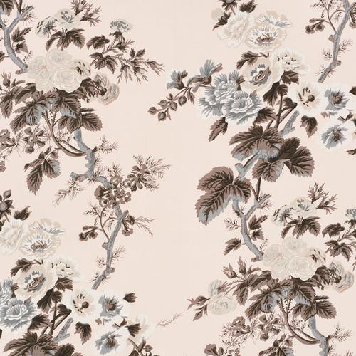 Schumacher Pyne Hollyhock Blush Fabric - Fabric