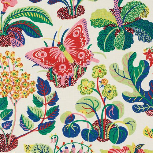 Schumacher Exotic Butterfly Spring Fabric - Fabric