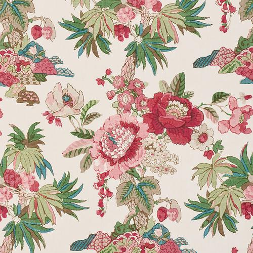 Schumacher Floribunda Document Fabric - Fabric