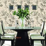 Ralph Lauren YARMOUTH FLORAL PEWTER Wallpaper