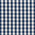 Schumacher Elton Cotton Check Navy Fabric