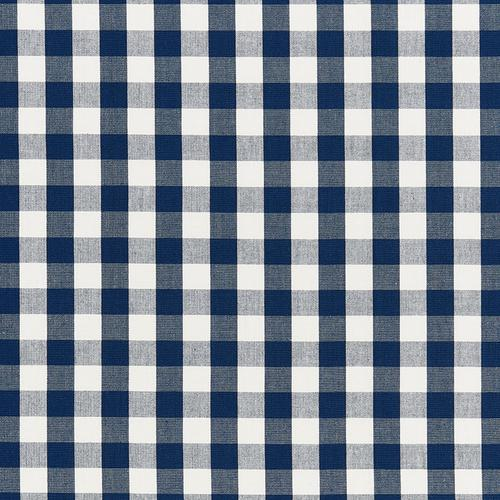Schumacher Elton Cotton Check Navy Fabric - Fabric