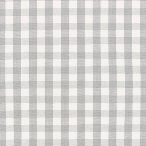Schumacher Elton Cotton Check Grey Fabric - Fabric