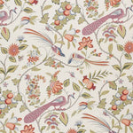 Schumacher Campagne Persimmon & Pink Fabric