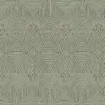 Groundworks Julia Emb Flax/Jade Fabric