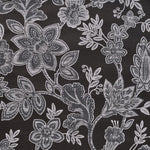 Phillip Jeffries Bohemia Graphite On Ebony Glazed Abaca Wallpaper