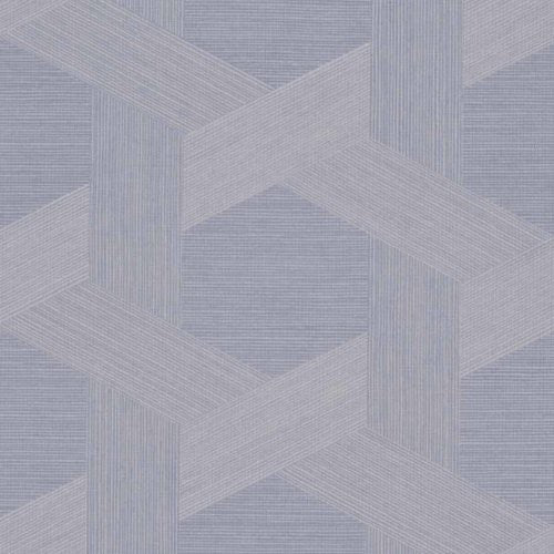 Phillip Jeffries Vinyl Woven Sisal Cerulean View Wallpaper - Wallpaper