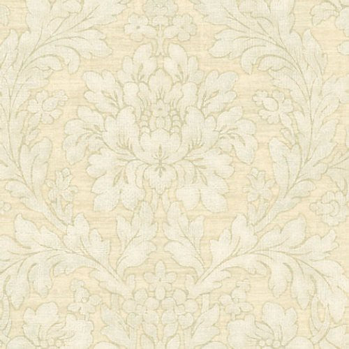 Scalamandre Painted Flowers Light Green Wallpaper - Wallpaper