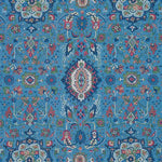 Schumacher Jahanara Carpet Peacock Fabric