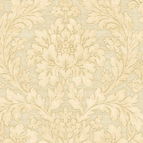 Scalamandre Painted Flowers Gold Wallpaper - Wallpaper