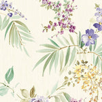 Scalamandre Providence Cream/Violet Wallpaper