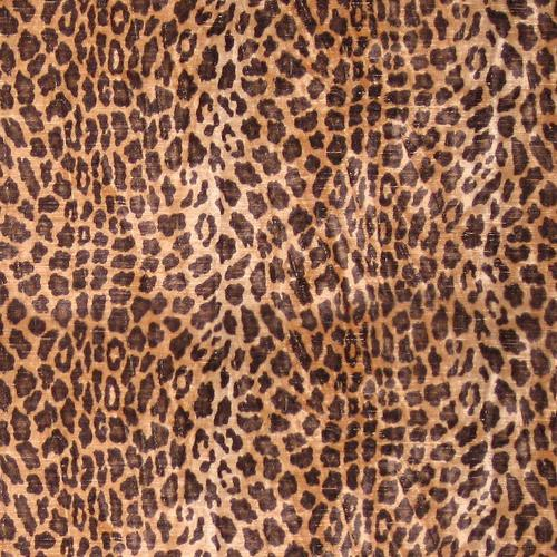 Old World Weavers Leopard Brown & Black Fabric - Fabric