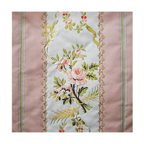 Old World Weavers Fersen Pink - Sold By Repeat Fabric - Fabric