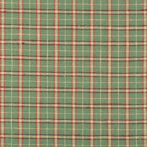 Brunschwig & Fils Butterscotch Woven Plaid Sage Raspberry Fabric - Fabric