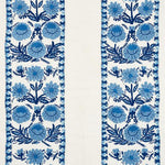 Schumacher Marguerite Embroidery Sky Fabric