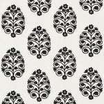 Schumacher Talitha Embroidery Blackwork Fabric