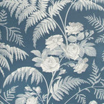 Cole & Son Rose White/Ice Blue/Denim Wallpaper