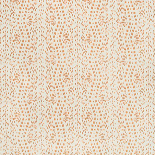 Brunschwig & Fils Les Touches Tangerine Fabric - Fabric