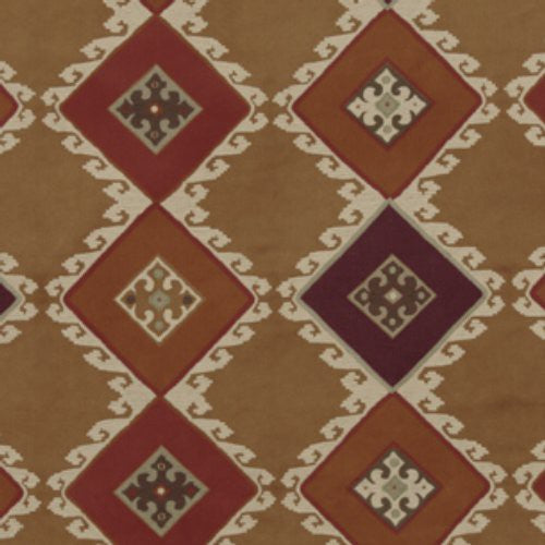 Mulberry Celtic Herringbone Sienna/Plum Fabric - Fabric