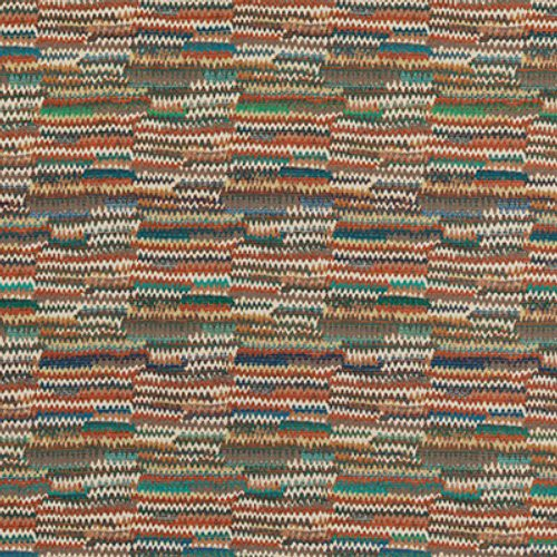 Mulberry Landscape Teal/Spice Fabric - Fabric